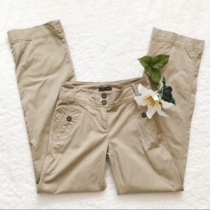 New York & Company Tall Khaki Trousers Pants Tan